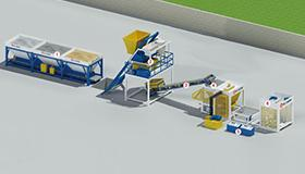 Simple Concrete Block Production Line